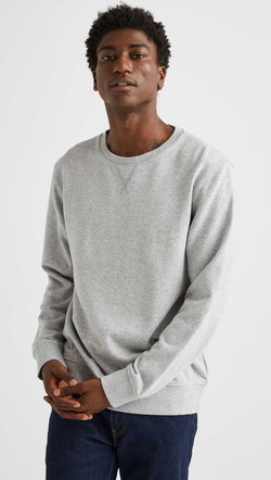 Richer Poorer Men's Heather Grey Fleece Crewneck Sweatshirt