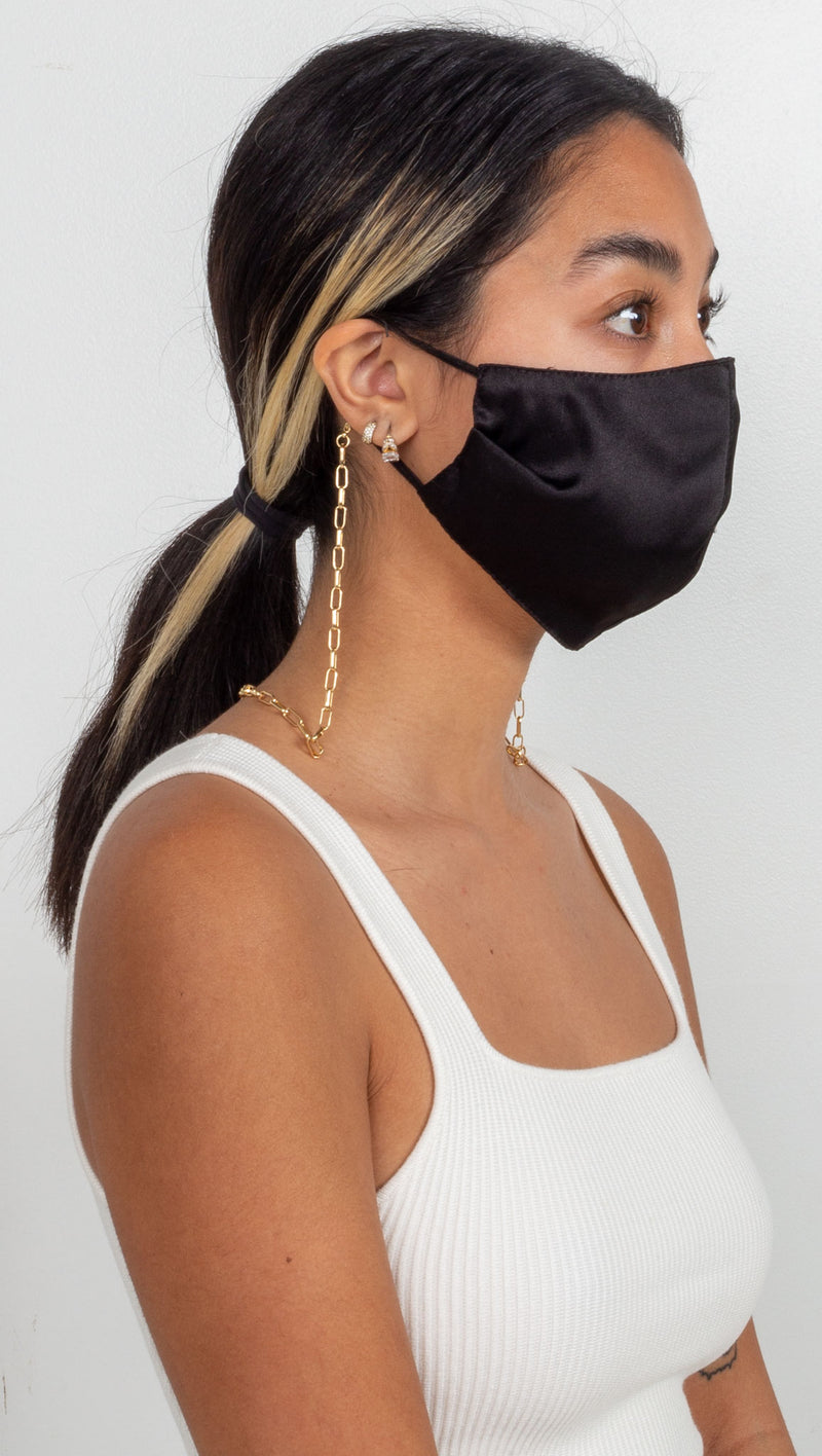 Z Snake Mask Chain - Gold Plated