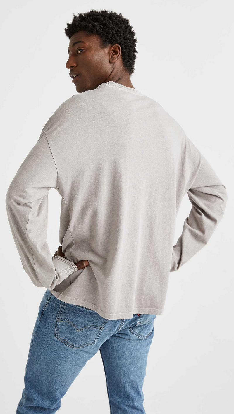 Men's Relaxed Long Sleeve Tee - Wet Weather