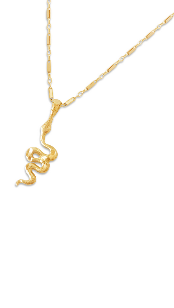 Snake Necklace - Gold Fill