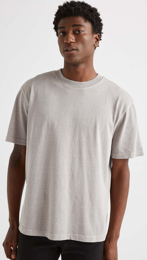 Richer Poorer Men's Washed Grey Short Sleeve Tee