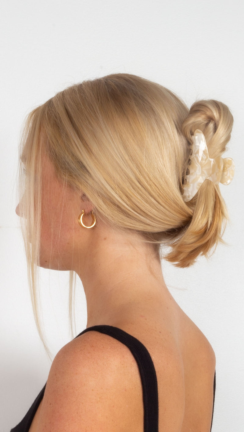 Maeve Hair Claw - Cream Tort