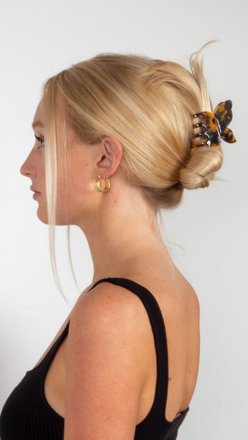 Monroe Butterfly Hair Claw - Dark Tan Tort