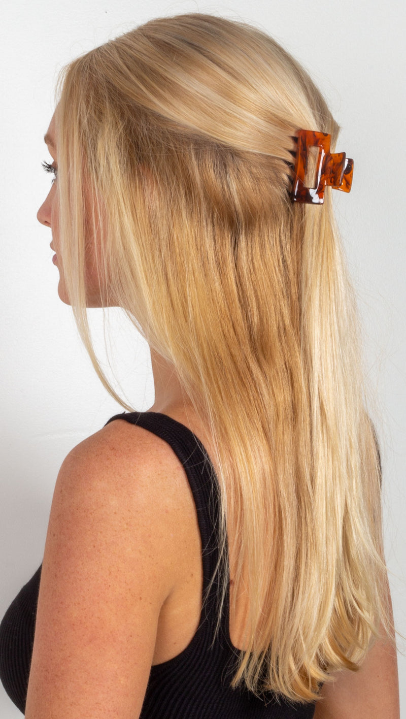 Audrey Hair Claw - Brown Marble