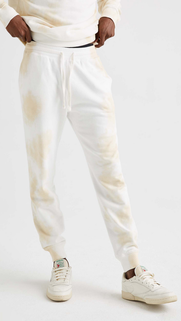 Richer Poorer Men's Nude Tie-Dye Fleece Sweatpant