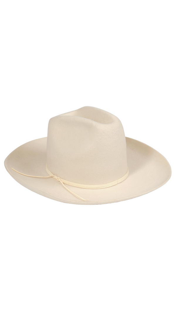 Lack Of Color Ivory Tall Crown Western Hat