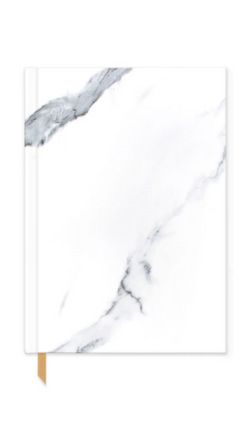 Design Work white marble hard cover notebook