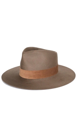 Janessa Leone Brown Wool Hat