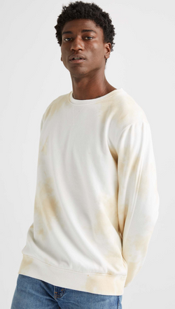 Richer Poorer Men's Nude Tie-Dye Fleece Crewneck Sweatshirt
