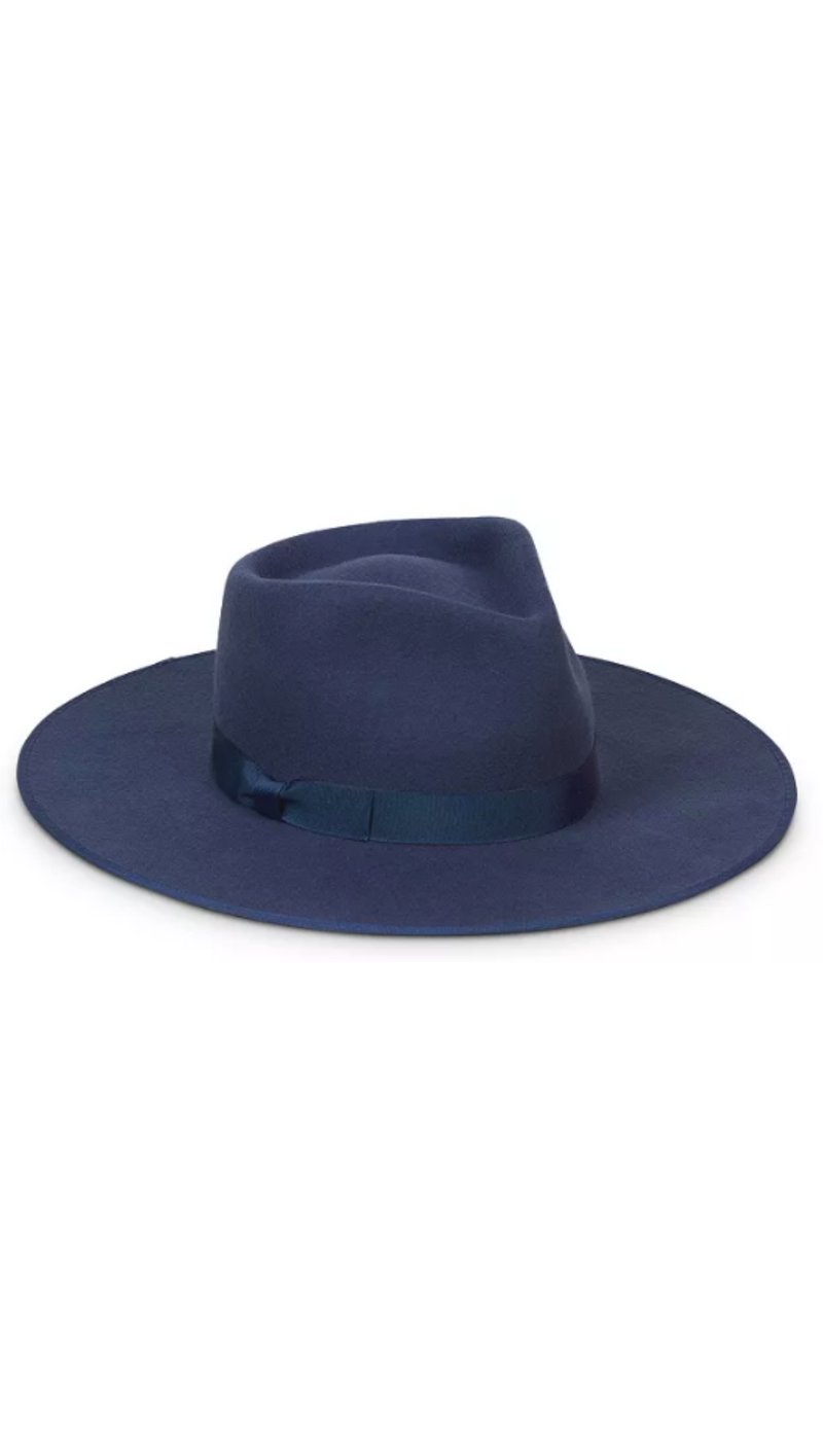 Lack Of Color Navy Rancher With Wide Brim