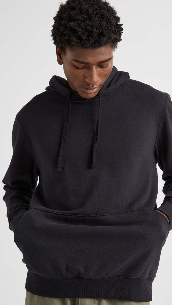 Richer Poorer Men's Black Fleece Hooded Sweatshirt