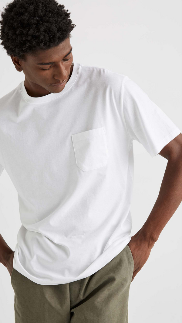Richer Poorer Men's White Pocket Crewneck Tee