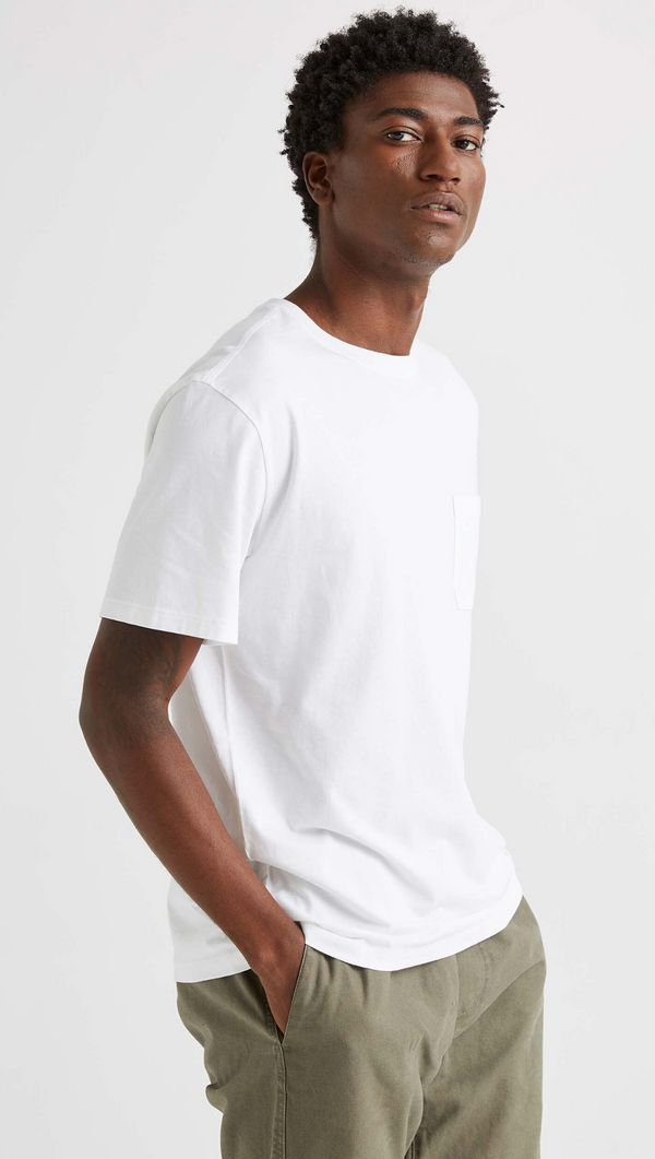 Men's Crew Pocket Tee - White
