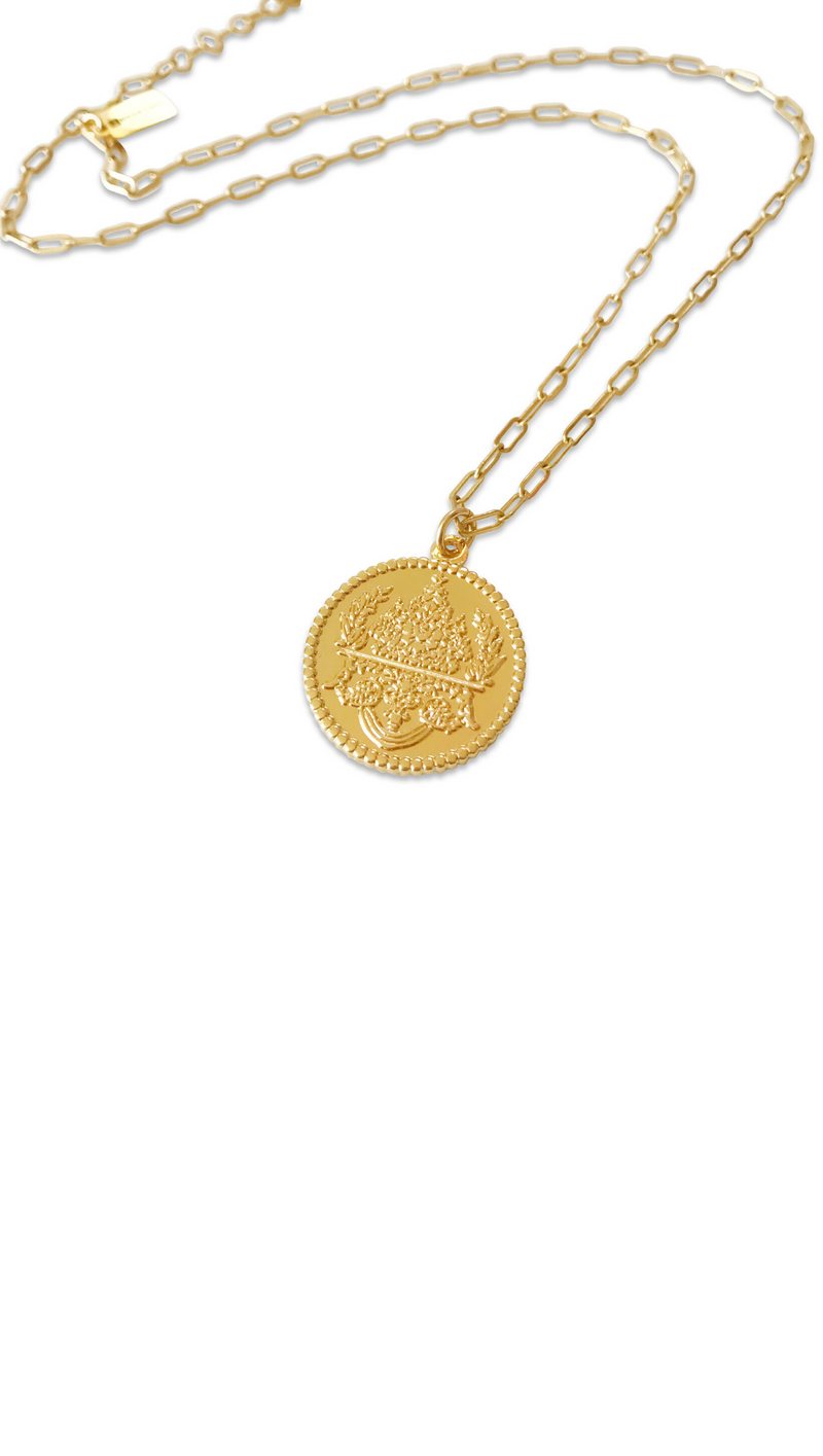 Medallion Necklace - Gold Fill