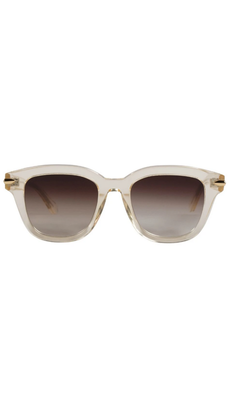 Brake - Champagne w/ Gold Metal Trim/Brown Gradient Lens Flat