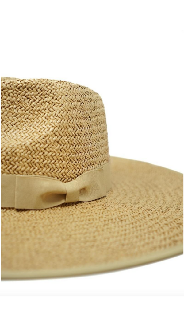 Emma Straw Pinched Hat - Toffee