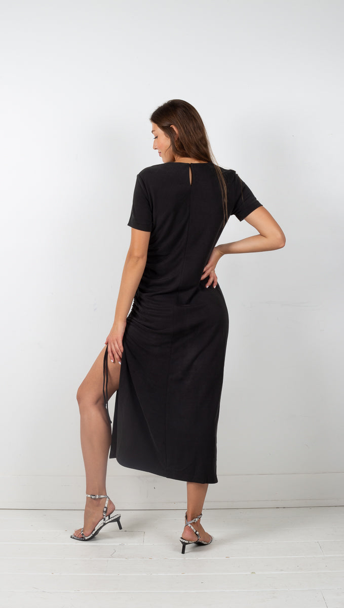 Lure In Maxi Tee Dress - Black