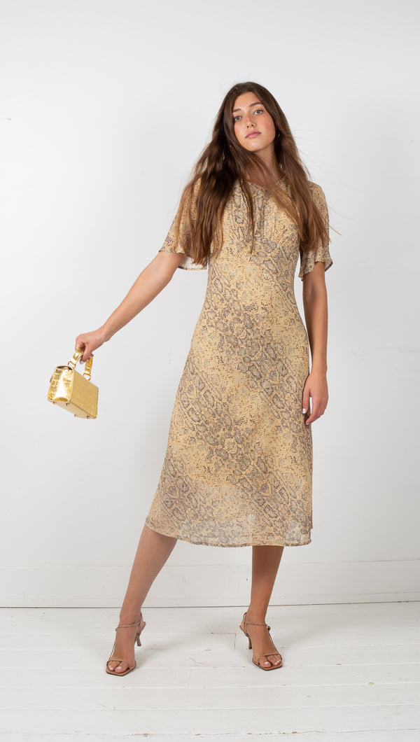 Third Form Animal Instincts Bias Tee Dress Snake Print