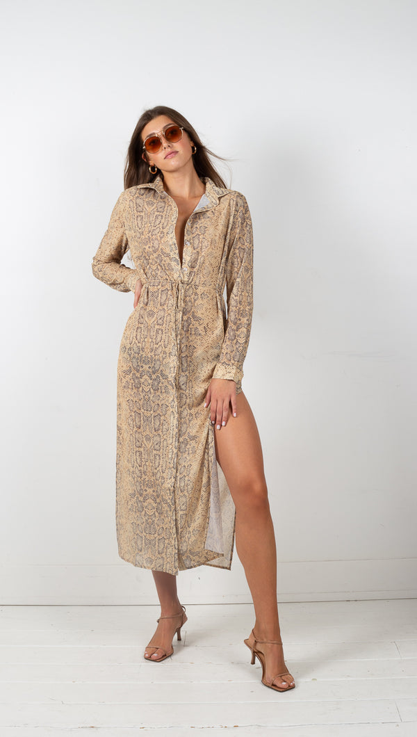 third form snake animal instincts shirt dress