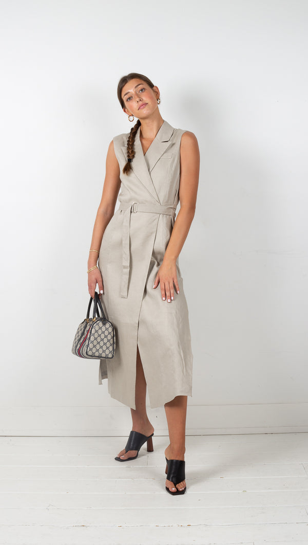 third form pebble wrapped up blazer maxi dress