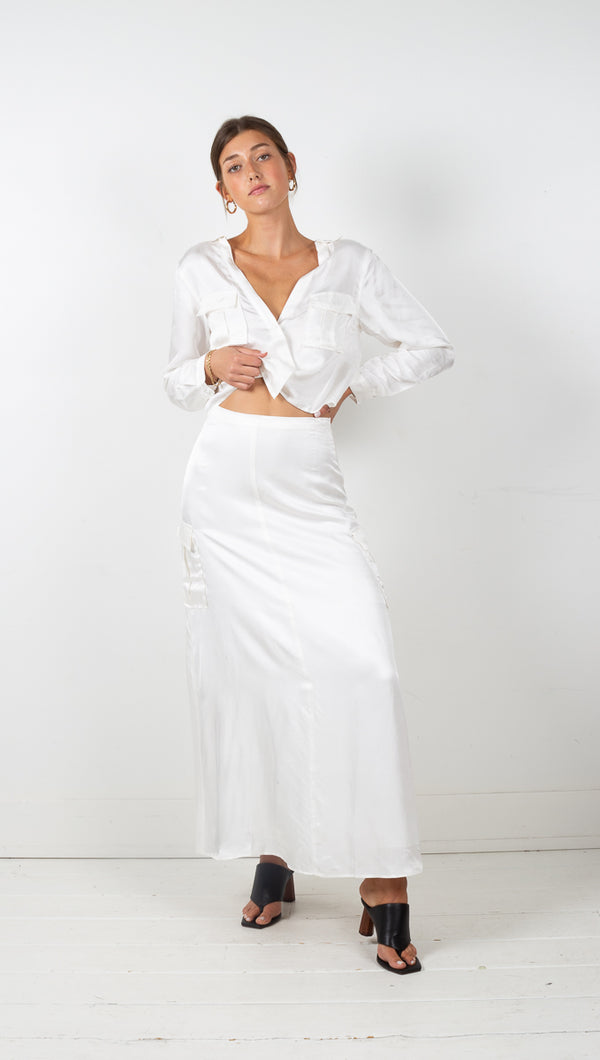third form off white lift off maxi skirt