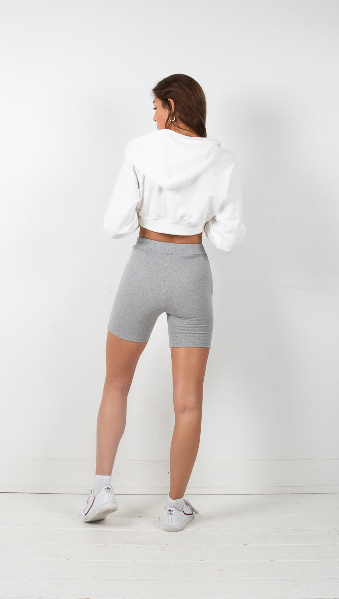 Knit Biker Shorts - Heather Grey