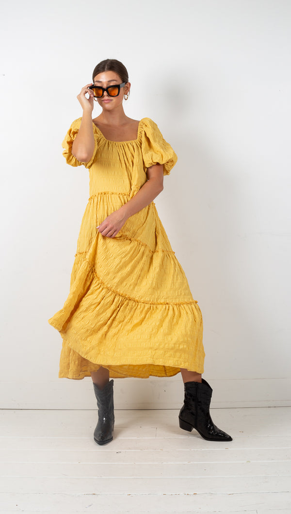 Vanessa Maxi Dress - Yellow