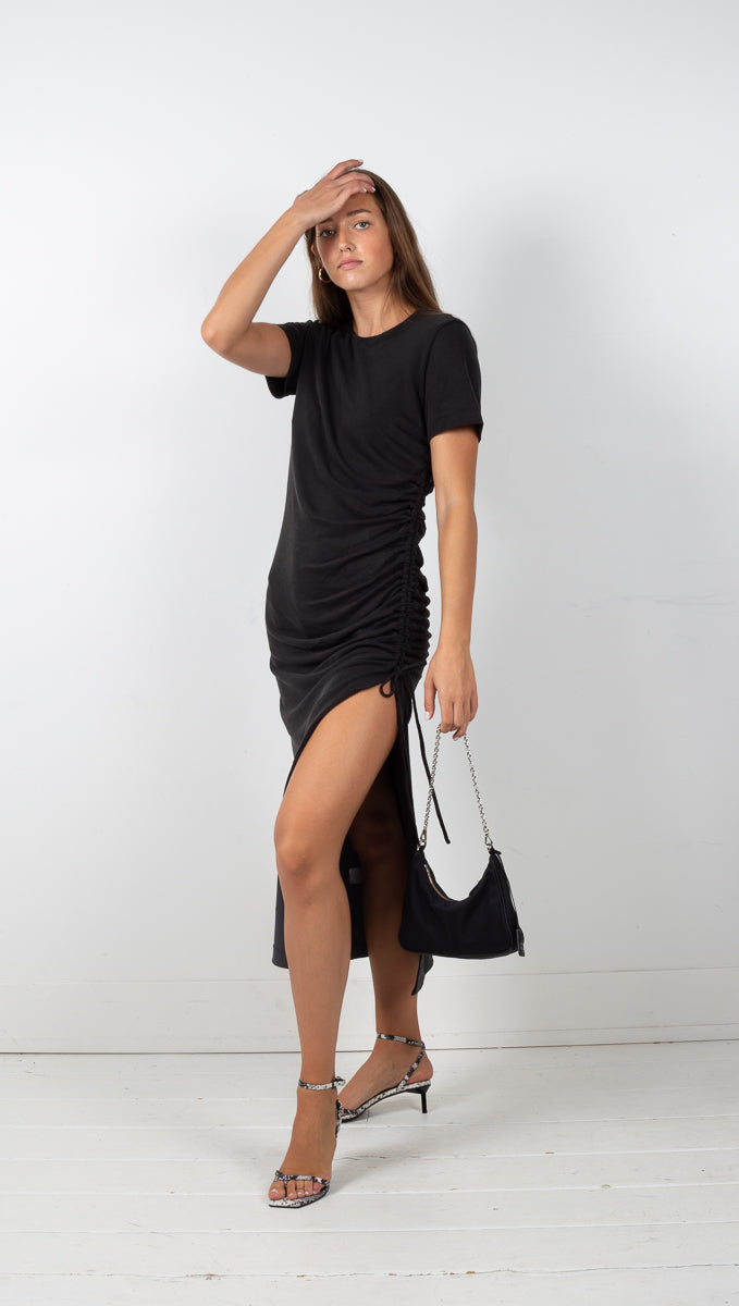 third form black lure in maxi tee dress