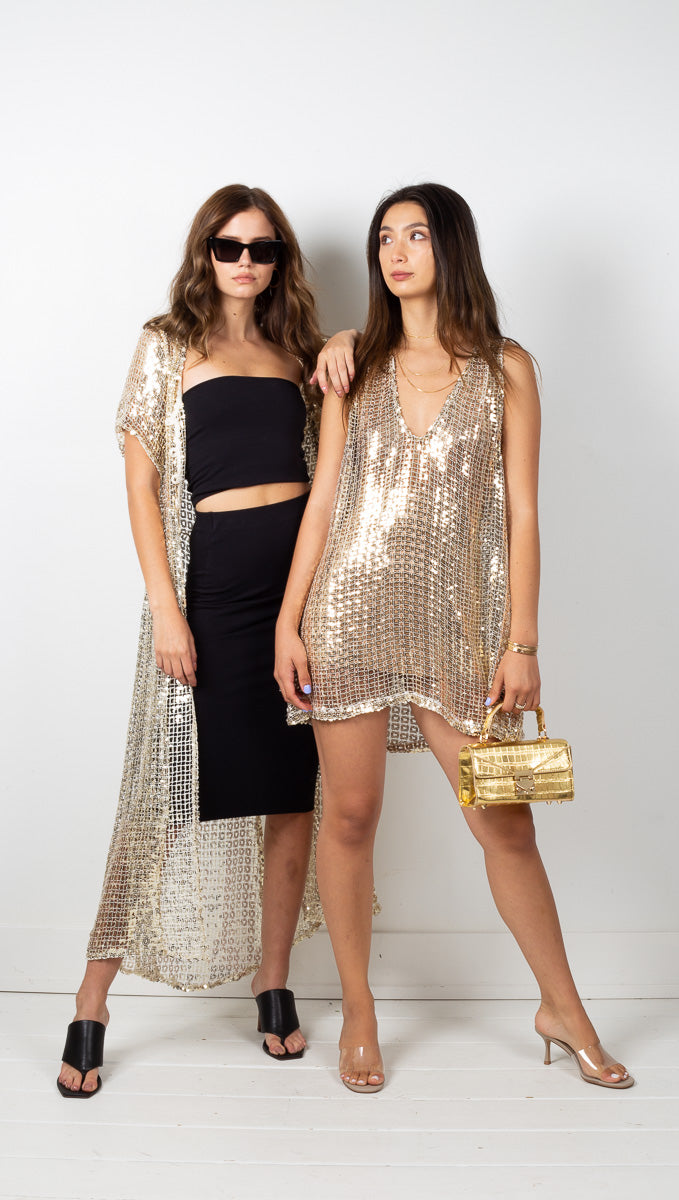 Palermo Dress - Gold Square