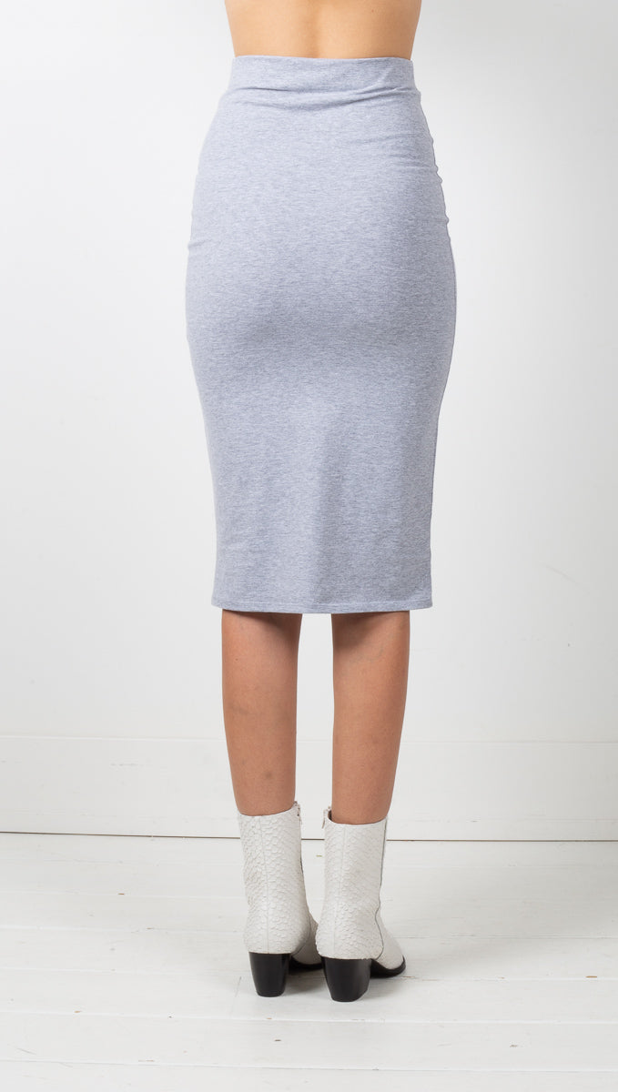Melbourne Skirt - Heather Grey