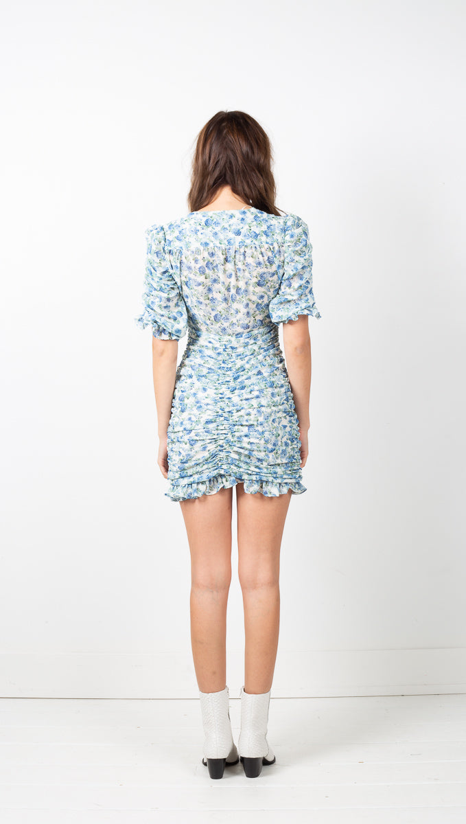 Geneva Mini Dress - Blue Floral