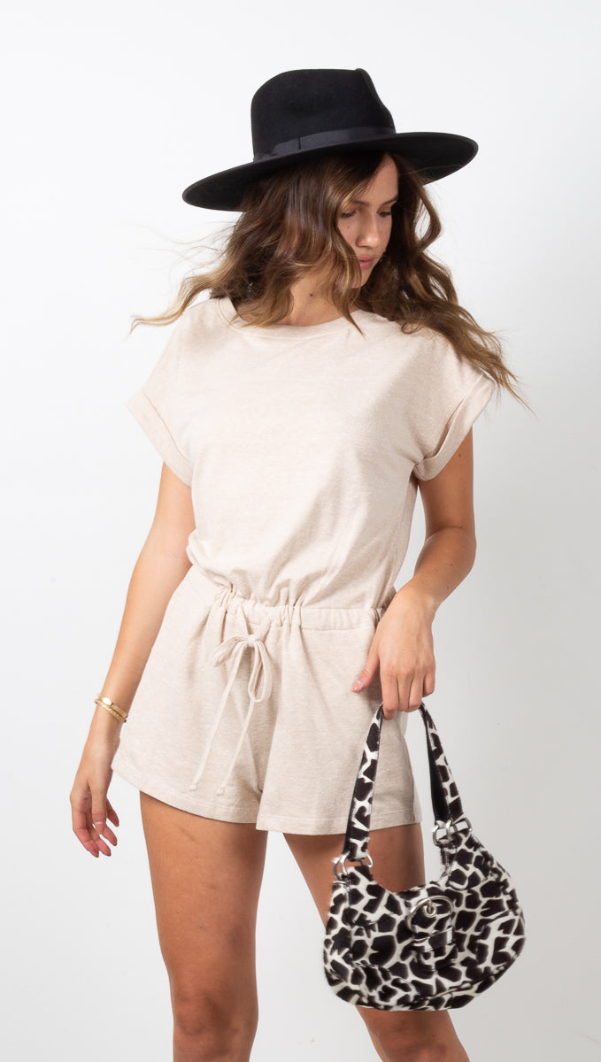 Nantucket Romper - Taupe