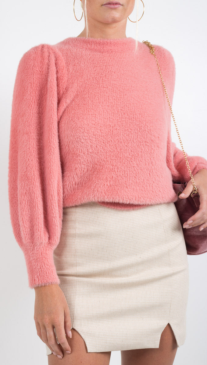 Whitney Mohair Sweater - Rose