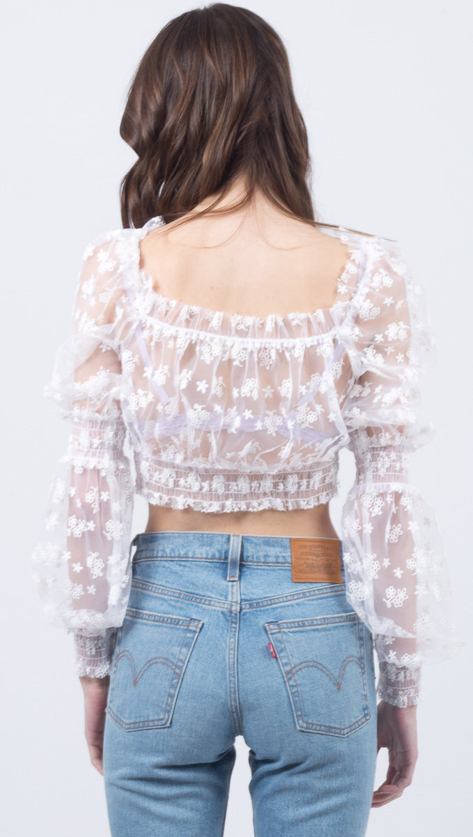 Constance Crop Top - White