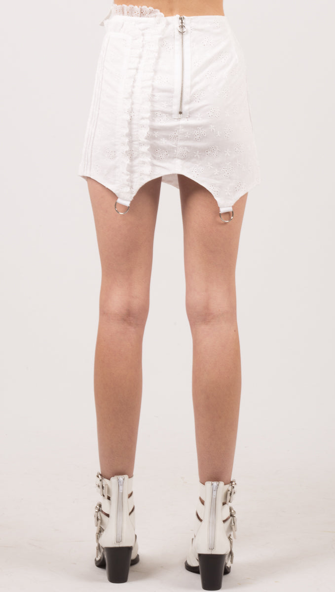 Davenport Mini Skirt - White