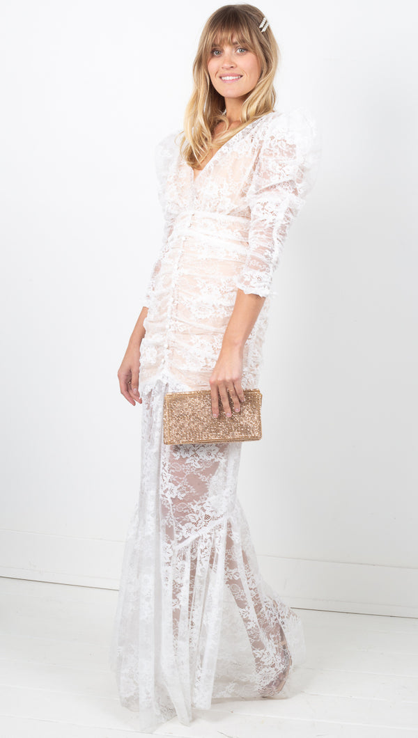 Cheyenne Lace Maxi Dress - Ivory Lace