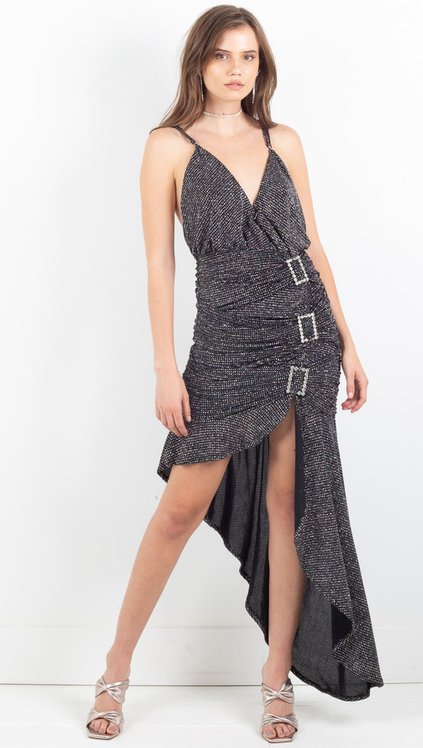 Margaux Glitter Maxi Dress - Metallic