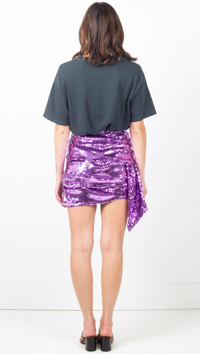 Madeleine Sequin Skirt - Purple