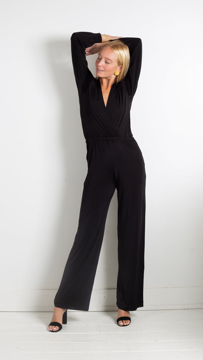 Ripley Rader Black Jumpsuit Long Sleeve