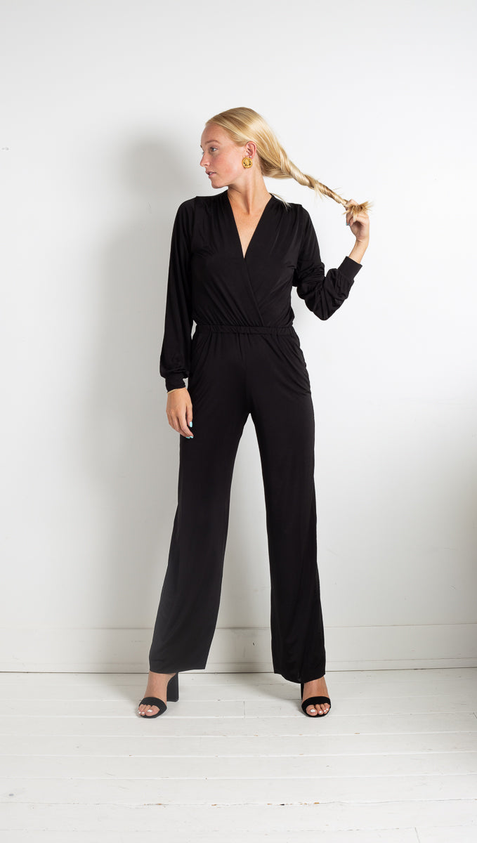 Jumpsuit Long Sleeve - Black
