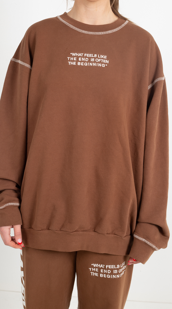 Mayfair PSA Brown Crewneck - One Size