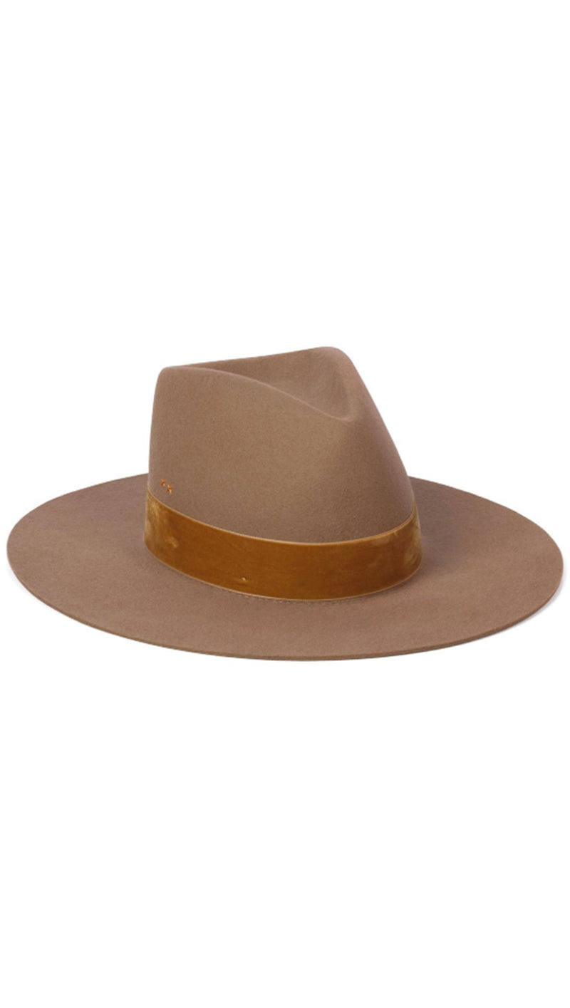Lack Of Color Velvet Light Brown Trim Hat