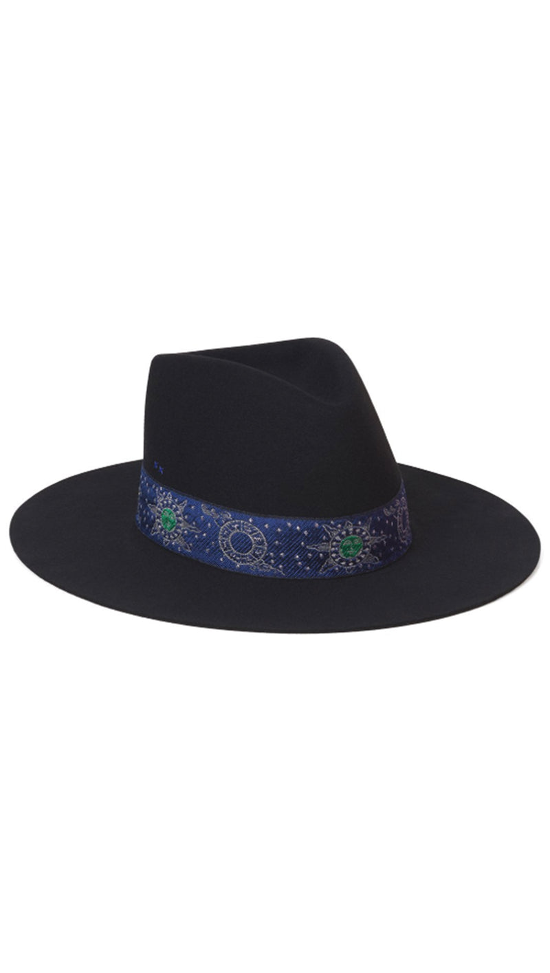 Lack Of Color Black With Blue Trim Zodiac Hat