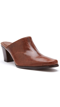 Matisse Brown Leather Mules