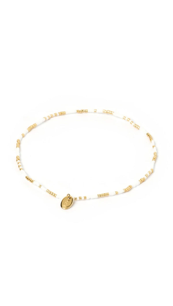 Mikki Beaded Anklet - Pearl and Glass