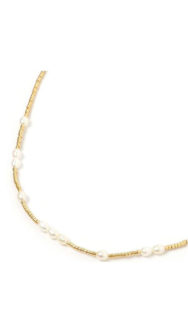 Peppa Choker - Gold and Pearl