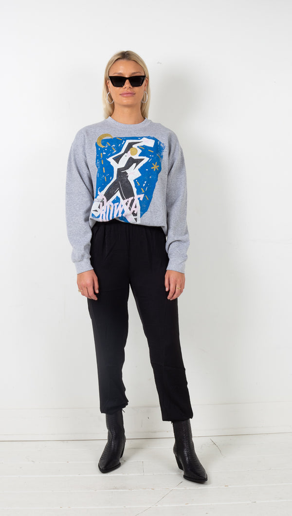 Bowie Serious Moonlight Sweatshirt - Heather Grey