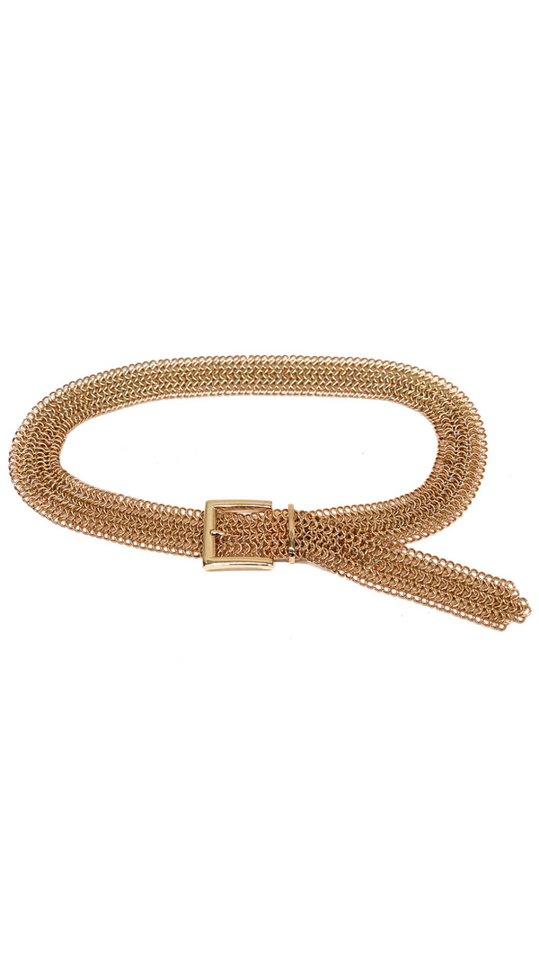 B-Low The Belt Chunky Gold Chainmail Belt