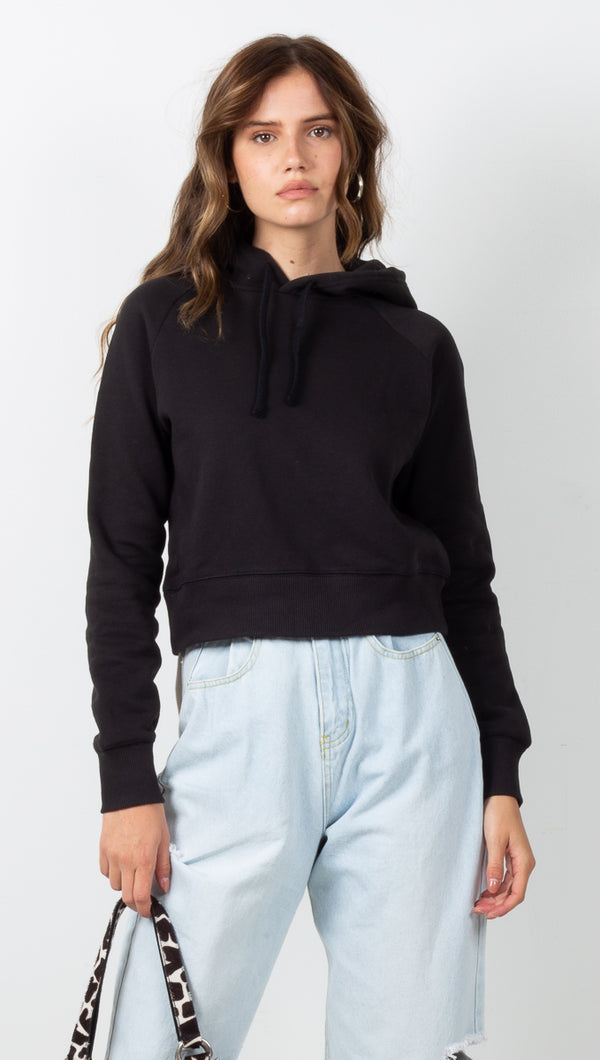 The Crop Hoodie - Black