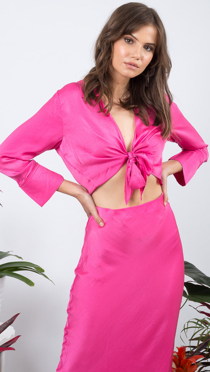 Florence Top - Hot Pink